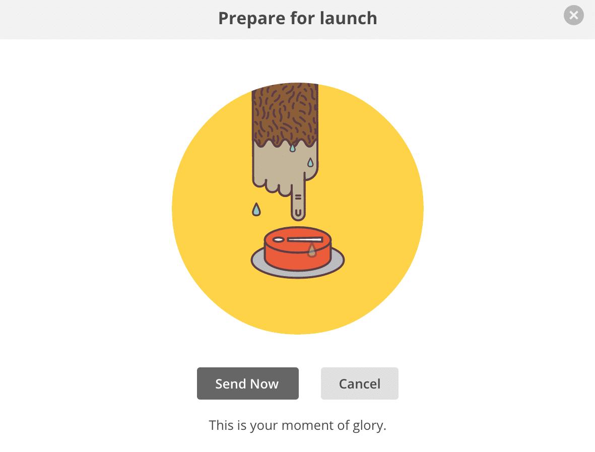 Mailchimp Launch Button