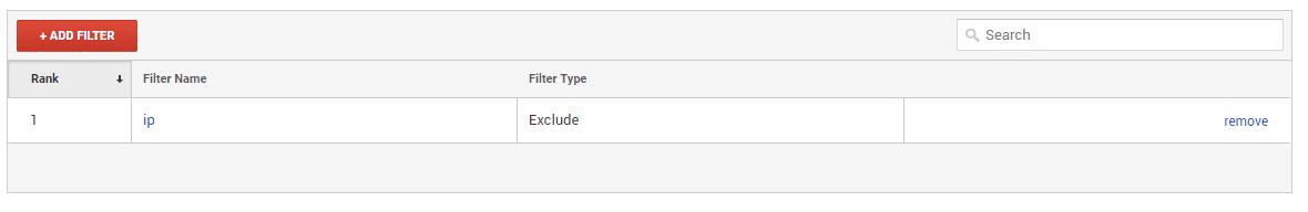 google analytics add filter
