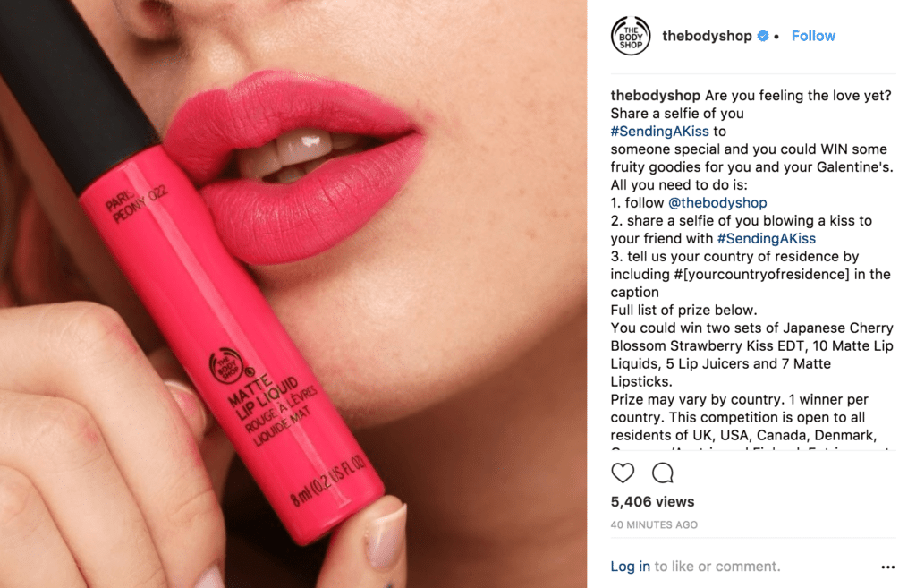 thebodyshop instagram contest