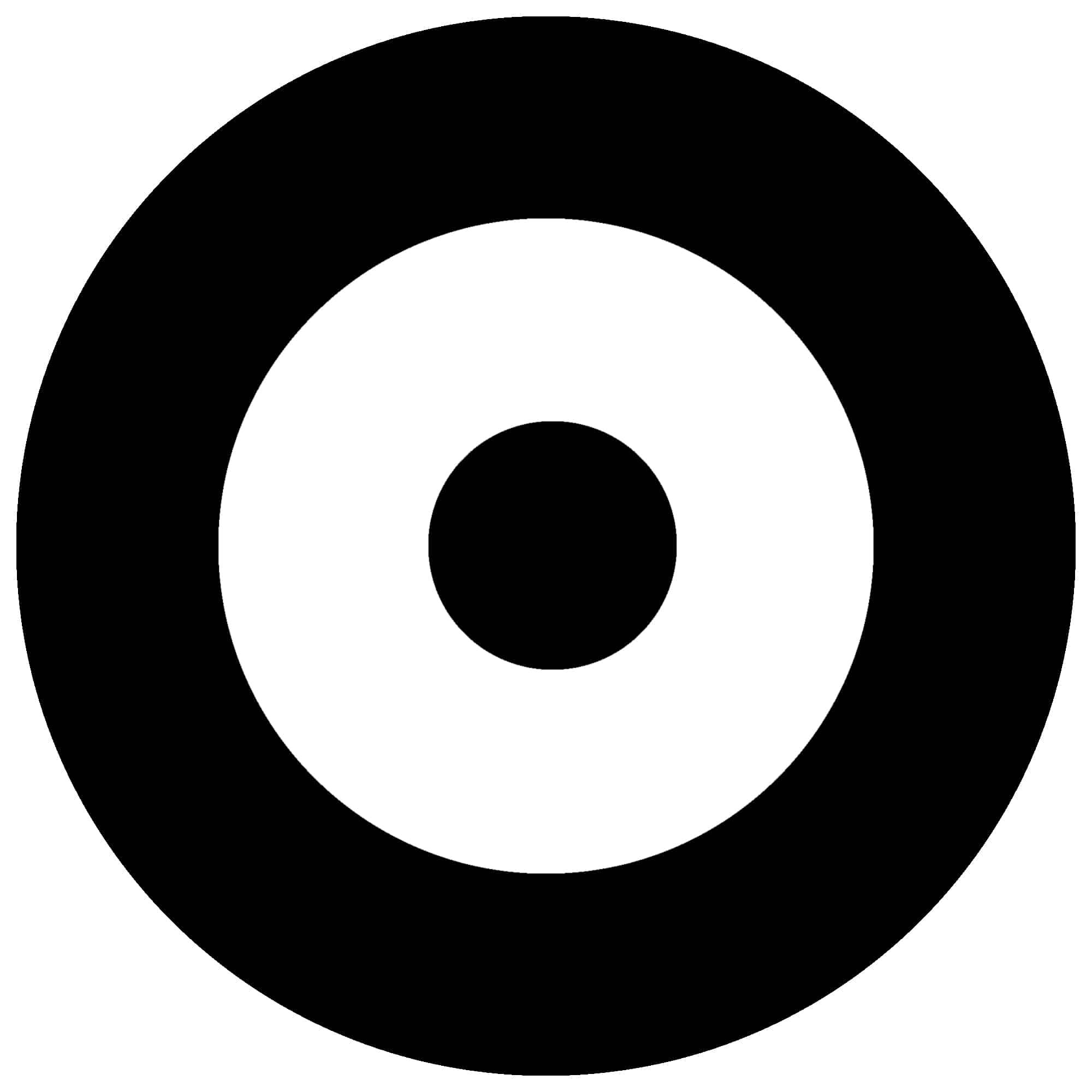Bullseye blank black