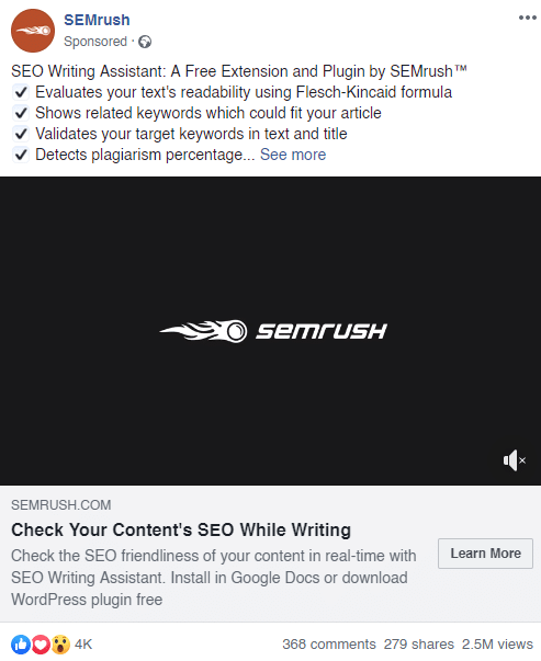 semrush ad engagement