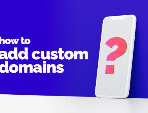 How to add a custom domain